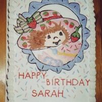 Strawberry Shortcake This is just a simple 9x13 with Strawberry Shortcake.