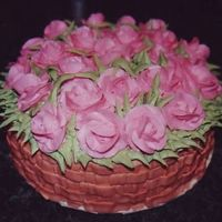 Basket Of Roses This cake was made for my oldest son's girlfriend's birthday. He couldn't decide how he wanted the cake decorated, so at the...