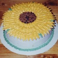 Sun Flower I did this one when my husband was out of town and I was bored. It was a shame there was no one there to eat it. I ended up throwing it...