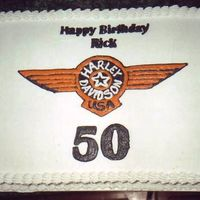 Harley Birthday This was for a customer who is also a friend that my husband and I ride with.