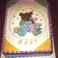 Baby Bear This was one I made for my ex's new wife. I used the plate from the shower theme and projected it, then embellished it a bit.