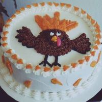 Turkey Cake This cake was being used to teach an employee how to pipe some autumn leaves. Somebody called my name as I was piping the first leaf and I...
