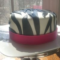 Plain Zebra Cake   Plain zebra cake minus the big pink flower