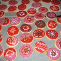 Valentines Day Cookies Sugar cookies covered with royal icing and glaze mixture.