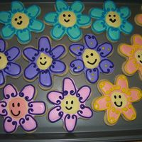 Flower Cookies These cookies were inspired by all those CC members that submitted flower cookies with the cutest little faces, thank you! I think these...