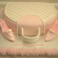 Bag And Shoes First a big thank you to misterc for letting me use the summer purse design. madeira cake fondant covered ri piping and gumpaste shoes....