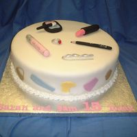 Teenage Fashion Madeira with fondant icing and accents. Made for 15 yr old twins.