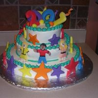 Preschool Graduation Preschool graduation cake, they wanted fun and colorful, hopefully I did that. I don't work with fondant much but gave it a whirl on...