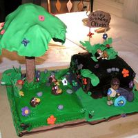 Go Diego Go! Cake This is the cake I made for my daughter's 3rd birthday. It was the first time I had used fondant and I think it turned out pretty well...