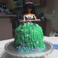 Hula Girl Cake - My First Doll Cake  A close friend is moving to Hawaii, so I thought it was the perfect time to try out a doll cake. I was nervous about using a mixing bowl,...