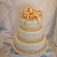 Wedding Cake   All covered in fondant. TFL!