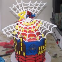 Spiderman Cake Well, here's my attempt at the spiderman cake originally done by Shellylynn. Thanks to Shellylynn and other CCers for all the...