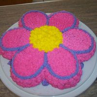 Flower Cake Flower Cake for Little Girl's Birthday.
