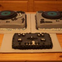 Turntables & Mixer 1 This is the cake(s) I made for my sister's Birthday today. She is a DJ and has a true passion for music. So to make these turntables &...