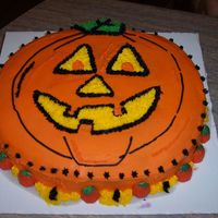 Jack-O-Lantern Cake The Happy Pumpkin...