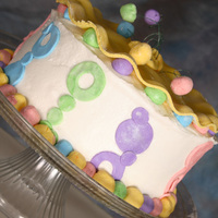 Rainbow Cake This is a rainbow colored white cake with BD frosting, marshmallow fondant accents and lustre dust to help it shimmer. I got the idea from...