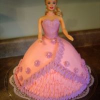 Barbie Birthday Cake 2 Another chocolate cake with buttercream icing.