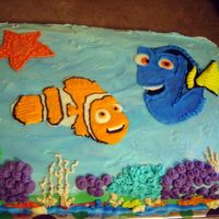 Nemo And Dory I made this for my niece & nephew's birthday party. All buttercream with a few white candy shells. This was a fun cake to make, I...