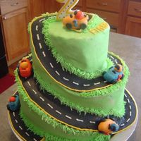 Alex's 2Nd Birthday Cake My version of bjfranco's cake. I made this for my son's 2nd birthday. This was my first time carving on a cake. Also my first...