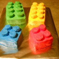 Building Block Cake I made these for our son's birthday party. Instructions found at bettycrocker.com.