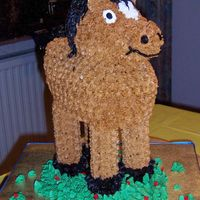 "3D Standing Horse This was one of the more creative cakes I did using the Wilton 3D Rubber Ducky pan. By making the ""bill"" a little thicker and..."