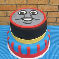 Thomas The Cake This was for my sons' 1st and 3rd birthday party. It is almost and exact copy of a cake by Courtney Clark of Cake Nouveau. I was happy...