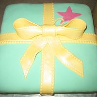 Zoe's Cake   Made to match a baby shower invitation...