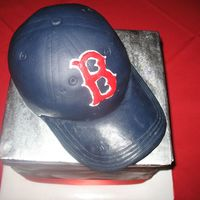 Phil's Sox Cake The groom asked for a chocolate Red Sox Cake, so I made a chocolate box with baseball cap sitting on top. The base wasn't much to look...