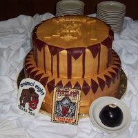 Corps Stack Cake  This was a chocolate cake with chocolate buttercream under marshmallow fondant. The groom, a recent grad of Texas A&M and a member of...