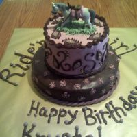 Cake Made For My Sisters Neice Paisley Print with Horse