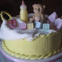 Baby Basket   I got this wonderful idea from sugarshack. Thanks for the help Sharon. The cake was for my sisters baby shower and it was a big hit.
