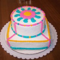 First Class Cake Since there wasn't enough time in class to finish my cake, I decided to redo it in the colors I picked for the design. I though I...