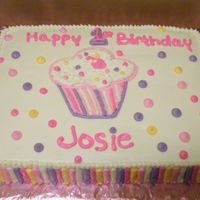 1St Birthday   this was made to match the plates at the birthday party. all white cake with buttercream icing.