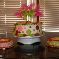 Pink And Green For Twin Girls 1St Party   WASC done in all buttercream