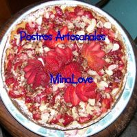 Strawberry Cheese Cake DECORATING WITH STRAWBERRY, NUTS, ALMOND, CHOCOLATE WHITE AND BLACK,