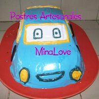 Blue Vintage Car 3 leches ponge cake , bavarian cream and nuts filling, italian meringue covering.