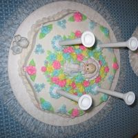 My God Daughter's Baptism Cake Here is a birds eye picture of the bottom cake.