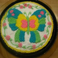 Butterfly Line Design Transfer Cake This poor cake suffered a mishap on the way to class and I thought I was going to just have to sit out and watch the others decorate their...