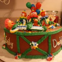 "Clown Cake I made this cake in ""Cake Decorating 101"" at my local cake suppy store. I was pleased with the outcom. I enjoyed using the..."