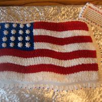 American Flag Cake  I really enjoyed making this cake! -And in the process I learned, yet, another valuable lesson. It takes a lot of Wilton food coloring...