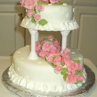 My Course 3 Wedding Cake! I used the homemade marshmallow fondant to cover my cake. I love the taste better than store bought. I love making the fondant roses. It...