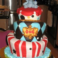 Birthday Circus Cake This was my very first attempt at cake decorating. I used the recipe for the 3D/Wedding cake recipe on this site, and also made MMF from...