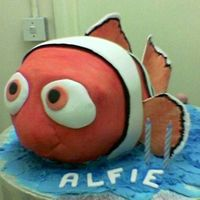Nemo I made this Finding Nemo cake for my son's 2nd Birthday. He is a HUGE fan of the film, he has a duvet cover withit on aswell, so this...
