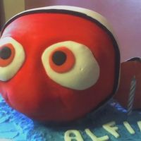 Nemo Closeup This is a close up photo of my Nemo Cake.