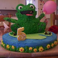 Kaylee's Frog Cake This cake was so much fun! We ran into this on the Wilton site. This is also when I found CC and learned about fondant and royal icing! I...
