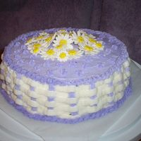 Basketweave B-Day Cake I made this cake for my birthday. This was my second time doing basketweave and my first time makeing gumpaste daisies. Flowers are so much...