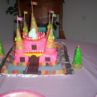 Kaylee's Castle Cake This was the very first cake I had ever made. It was almost two years ago, Feb. of 2005. I didn't know anything about icing...
