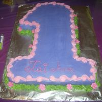 Number1 Number 1 for my niece's first bday party.....goes along with the tinkerbell cake
