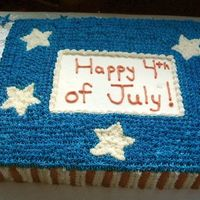 4Th Of July Thanks to the other members for the cake design! Yellow cake with buttercream icing.