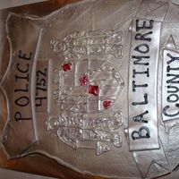 Police Badge   Grooms cake